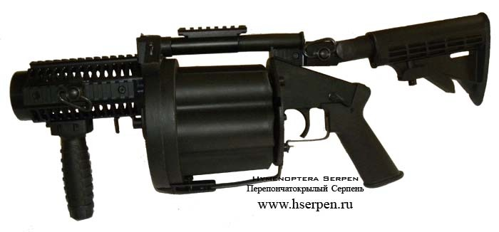 Страйкбольный гранатомет ICS Revolver Grenade Launcher GLM & TAG Innovation Edition